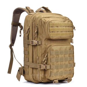 BOW-TAC tactical backpacks - Coyote brown 40L tactical backpack - Main view without flag