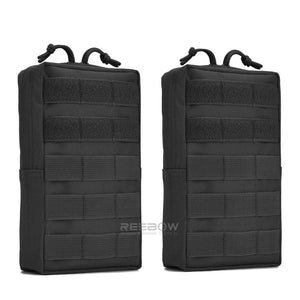 BOW-TAC tactical bags - Black tactical molle pouch - 2 packs