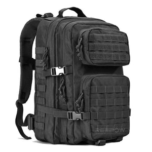 BOW-TAC tactical backpacks - Black 40L tactical backpack - Main view without flag