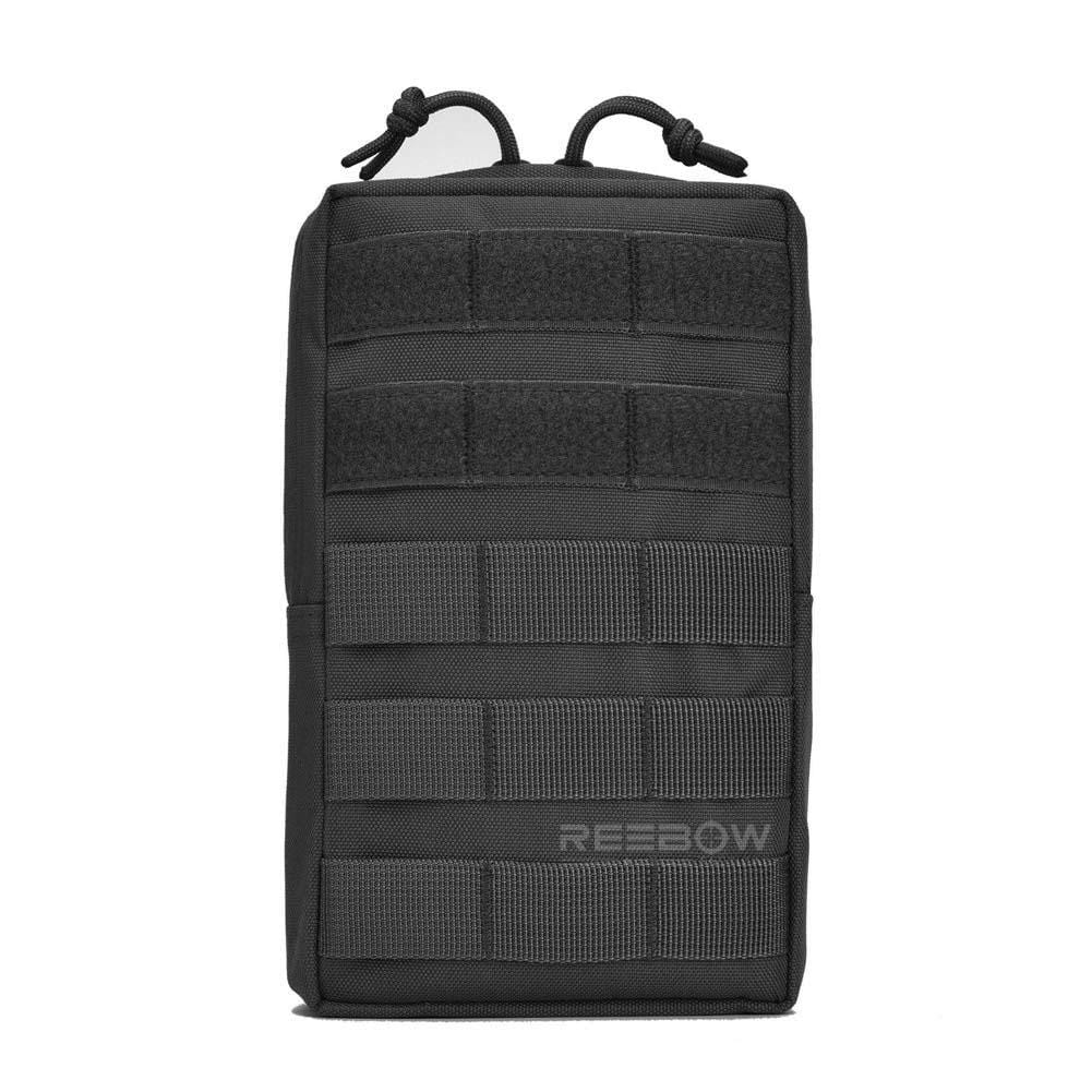 BOW-TAC tactical bags - Black tactical molle pouch - Front view