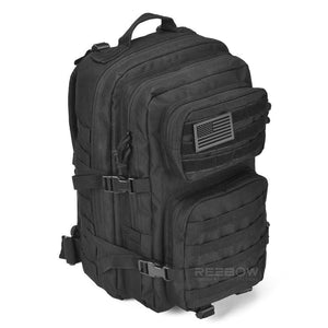 BOW-TAC tactical backpacks - Black 40L tactical backpack - Side view