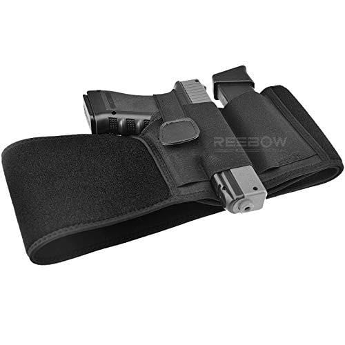BOW-TAC tactical holsters - Black belly band holster for concealed carry - Main view