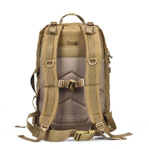 BOW-TAC tactical backpacks - Coyote brown 40L tactical backpack - Back view