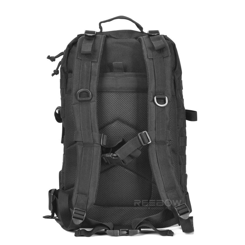 BOW-TAC tactical backpacks - Black 40L tactical backpack - Back view