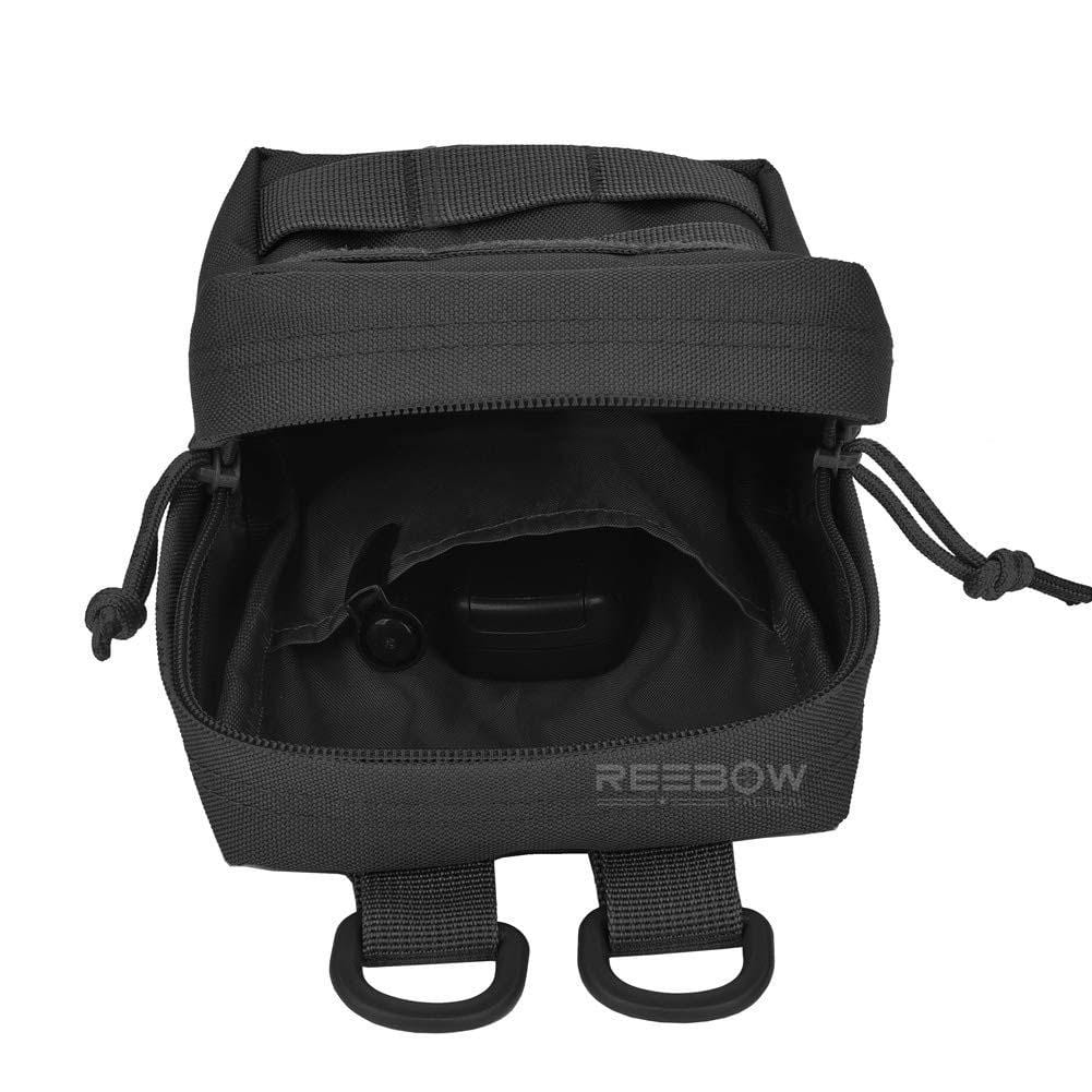 BOW-TAC tactical bags - Black tactical molle pouch - Open view