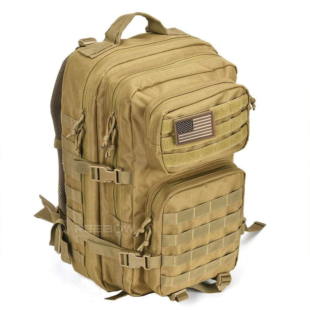 BOW-TAC tactical backpacks - Coyote brown 40L tactical backpack - Side view