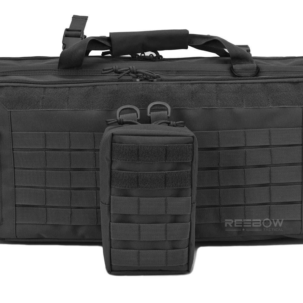 BOW-TAC tactical bags - Black tactical molle pouch - Attach display