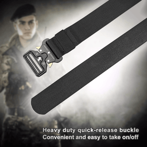 BOW-TAC tactical belts - Black heavy duty belt - Easy to take on/off