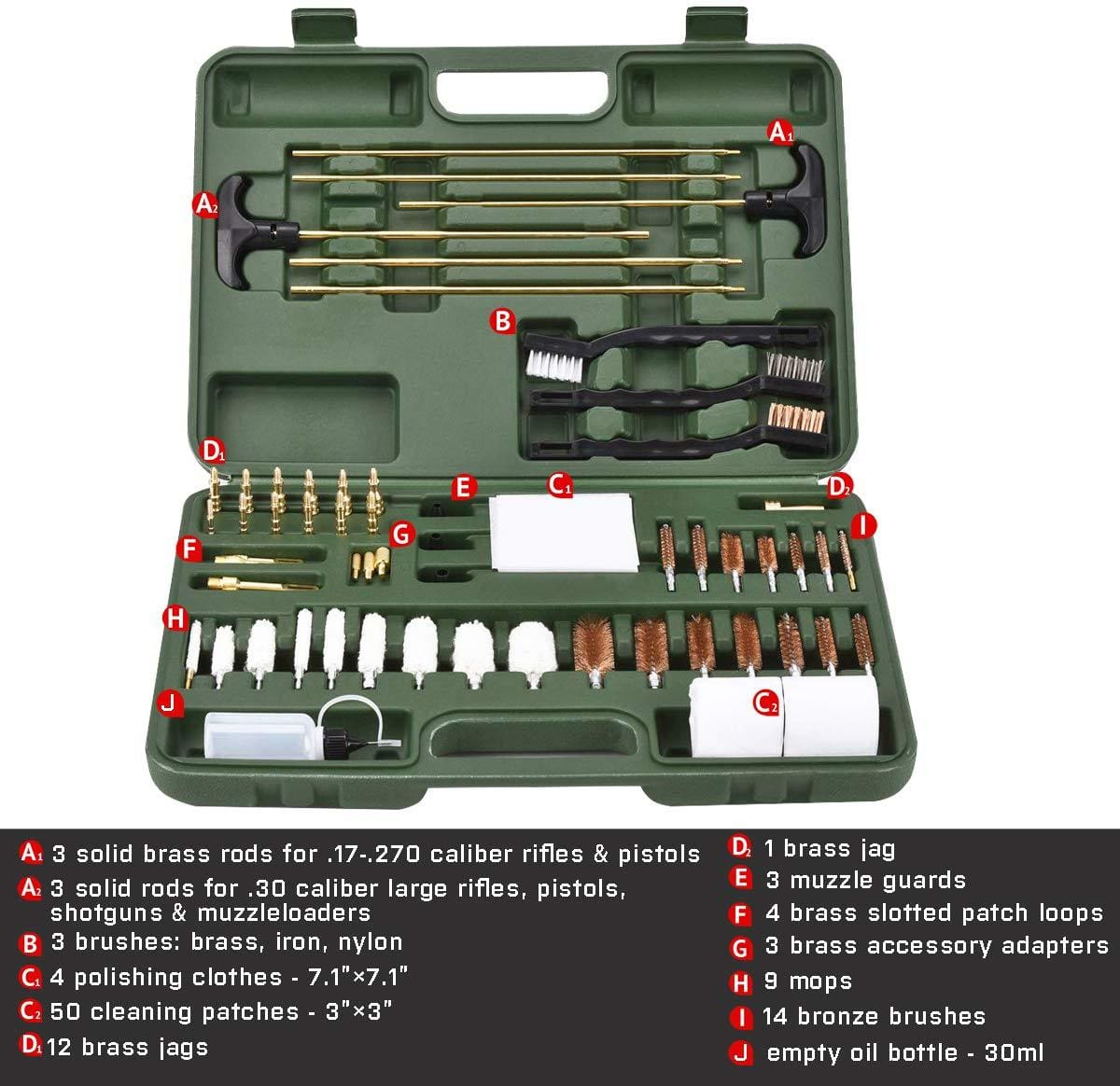 BOW-TAC tactical cleaning kits - Green universal gun cleaning kit - Instruction