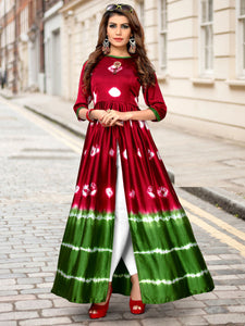 Breathtaking Maroon Cotton Designer Kurti