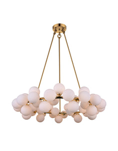 45 Light  Chandelier with Satin Gold finish