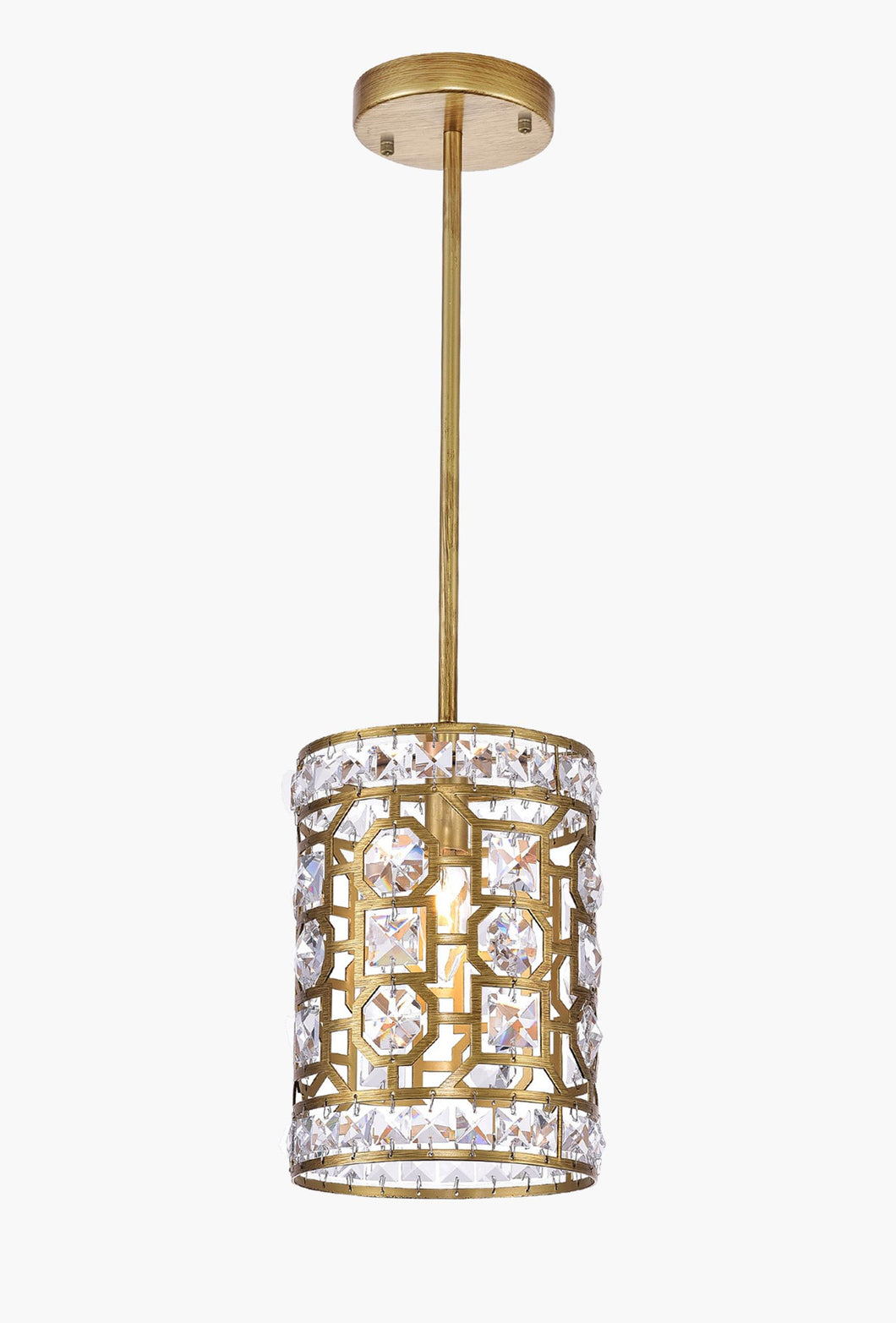 1 Light Pendant with Champagne Finish