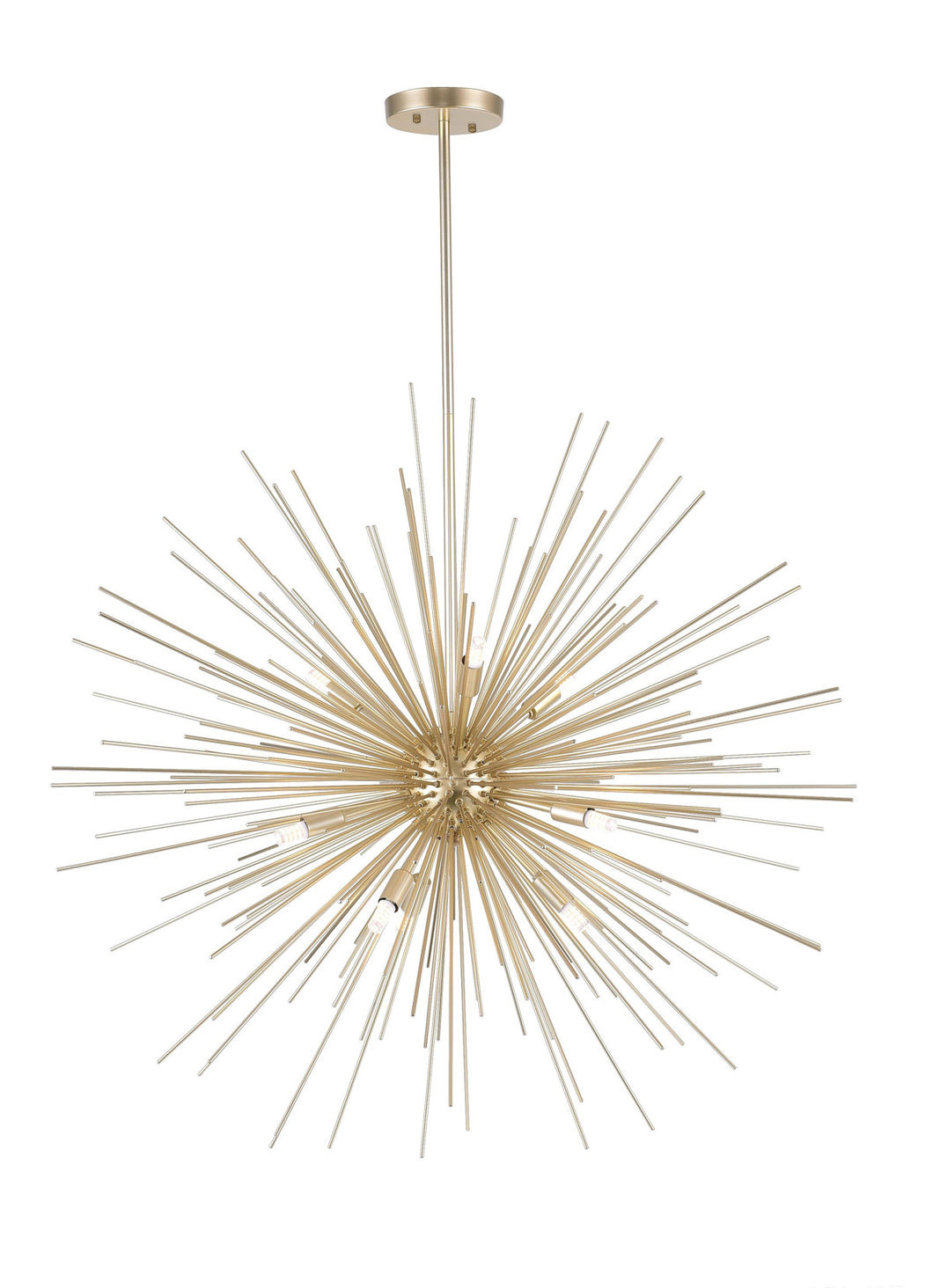 9 Light Chandelier with Gold Leaf Finish