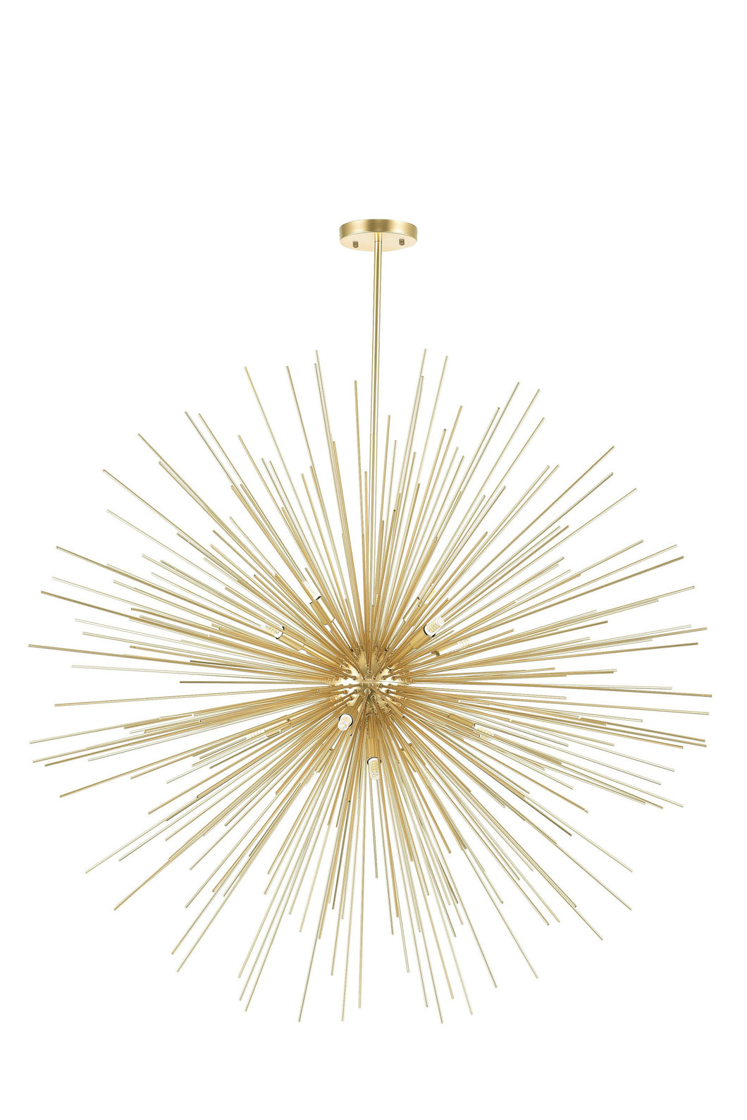 14 Light Chandelier with Gold Leaf Finish