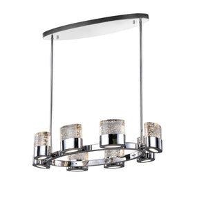 8 Light Chandelier with Chrome Finish