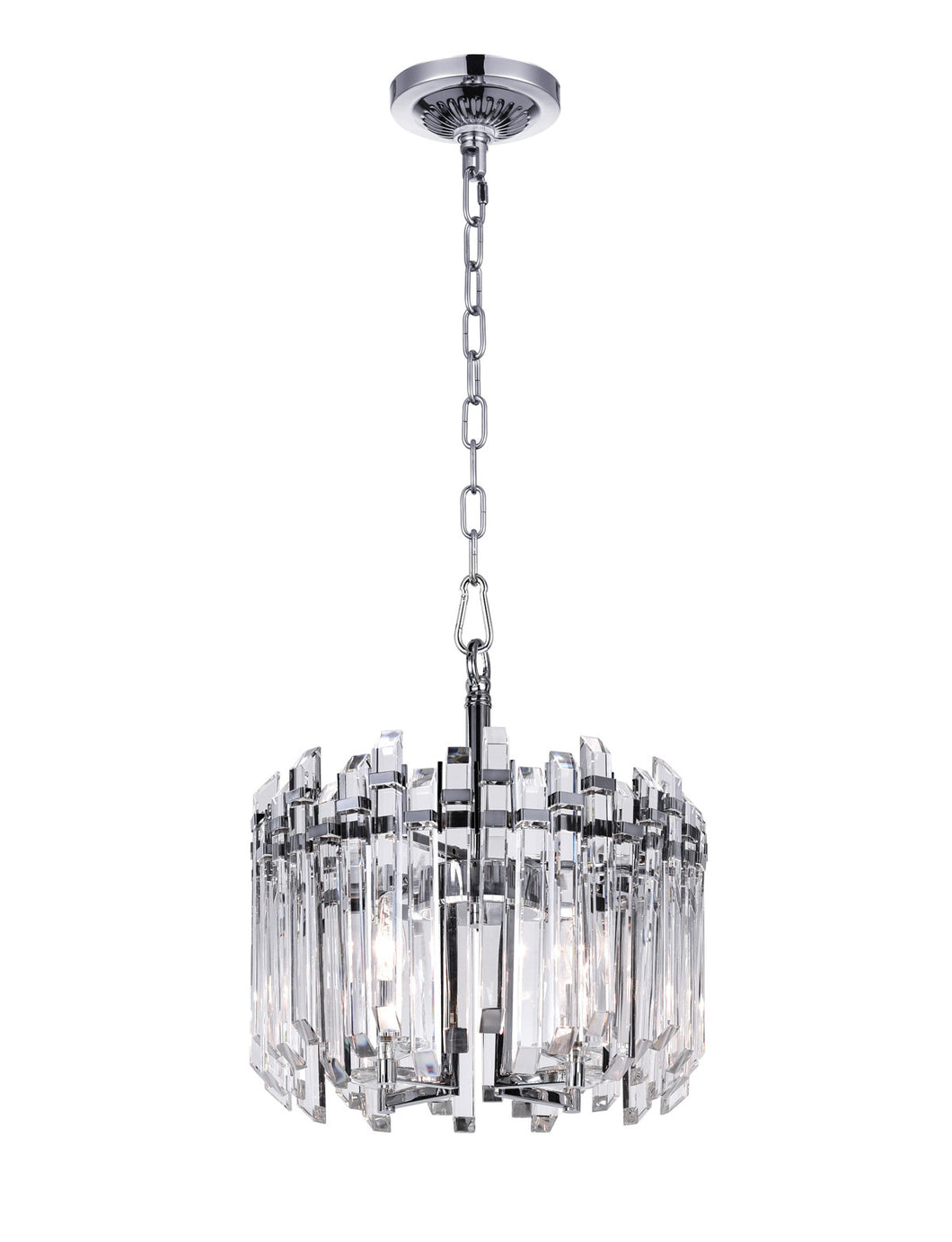 4 Light Chandelier with Chrome Finish