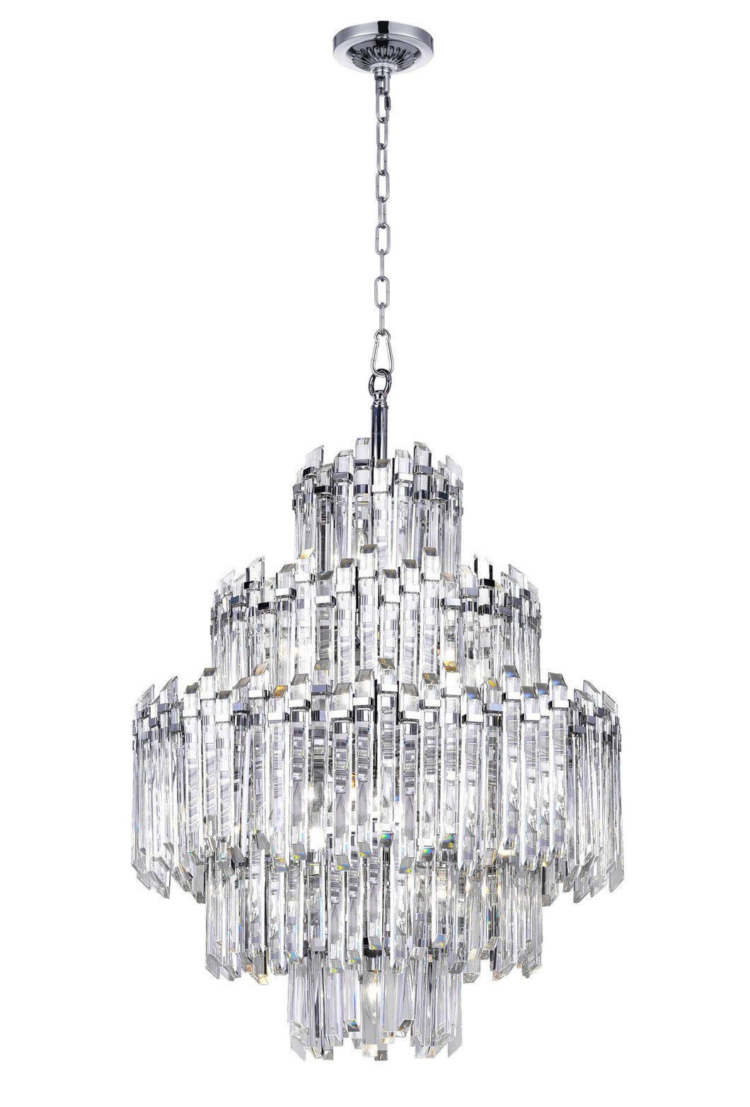 15 Light Chandelier with Chrome Finish