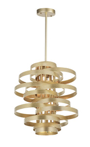 16 Light Chandelier with Gold Leaf Finish