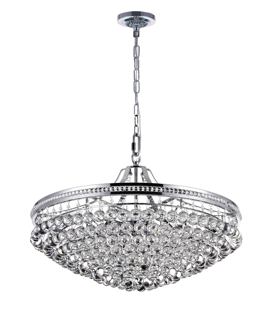 13 Light Chandelier with Chrome Finish