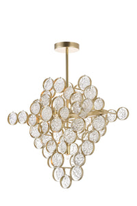 7 Light Chandelier with Gold Leaf Finish