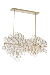 12 Light Chandelier with Gold Leaf Finish