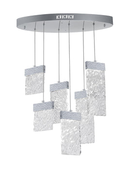 LED Chandelier with Pewter Finish