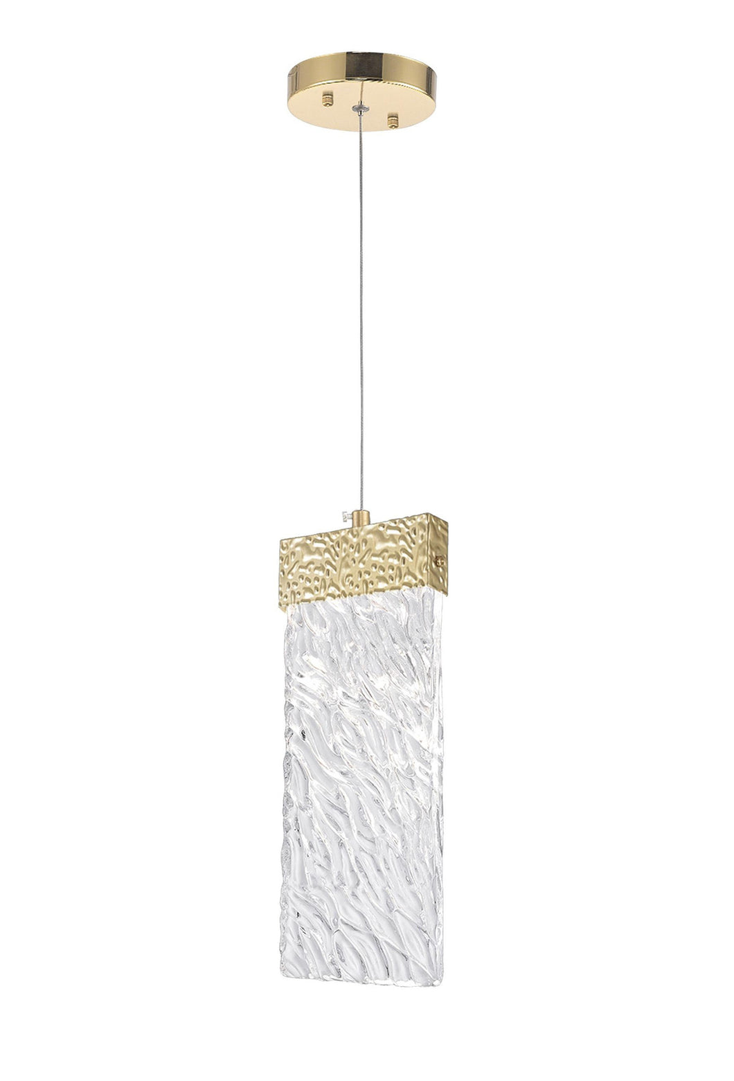 LED Pendant with Gold Leaf Finish