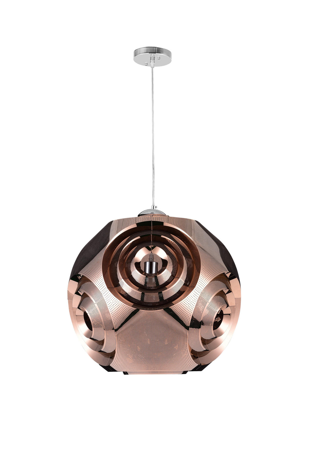 1 Light Pendant with Copper Finish