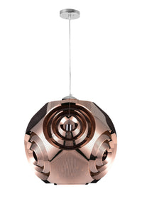 1 Light Chandelier with Copper Finish