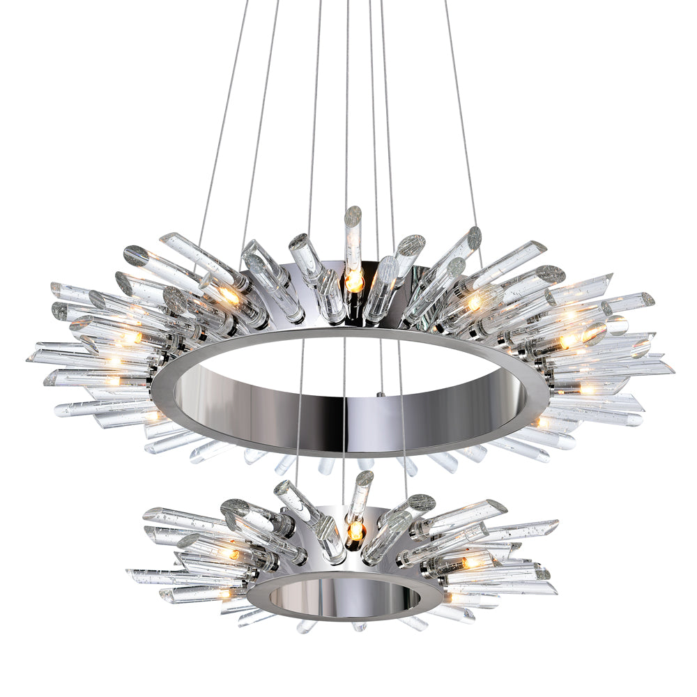 18 Light Chandelier with Polished Nickle finish