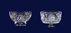 Set of 2 Lead Crystal Bowls