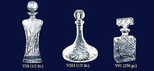 Set of 3 Lead Crystal Decanters