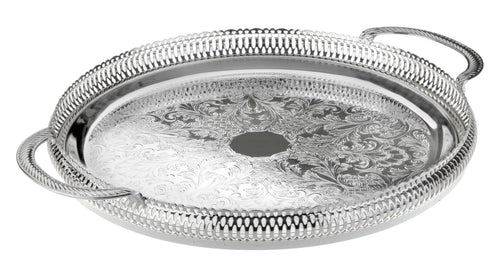 36 cm Round Gallery Tray-Handles