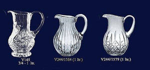 Set of 3 Lead Crystal Jugs