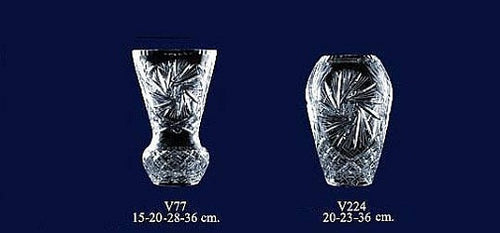 Set of 2 Lead Crystal Vases