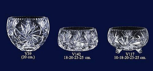 Set of 3 Lead Crystal Bowls