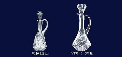 Set of 2 Lead Crystal Decanters