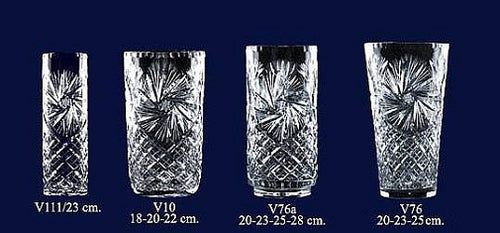 Set of 4 Lead Crystal Vases