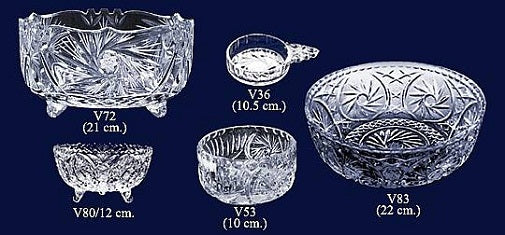 Set of 5 Lead Crystal Bowls