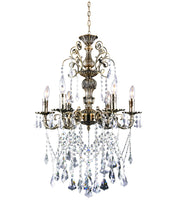 Load image into Gallery viewer, 6 Light Up Chandelier with Antique Brass finish