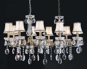10 Light Up Chandelier with Antique Brass finish