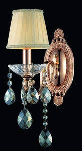 1 Light Wall Sconce with Rose Gold finish