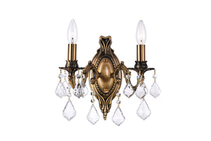 2 Light Wall Sconce with French Gold finish