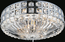 Load image into Gallery viewer, 6 Light Bowl Flush Mount with Chrome finish