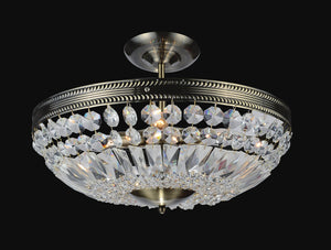 3 Light Bowl Flush Mount with Antique Brass finish
