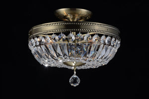 4 Light Bowl Flush Mount with Antique Brass finish