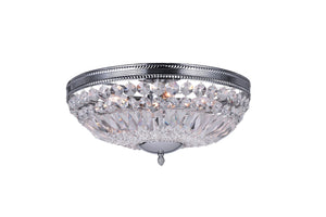 4 Light Bowl Flush Mount with Chrome finish