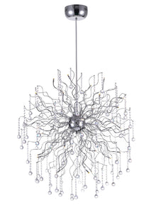 32 Light  Chandelier with Chrome finish