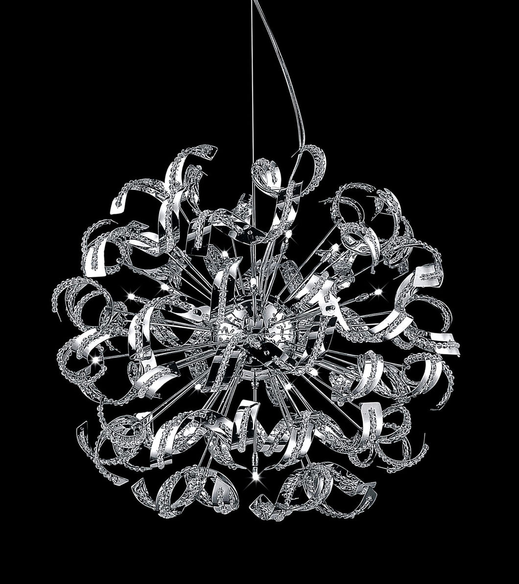 18 Light  Chandelier with Chrome finish