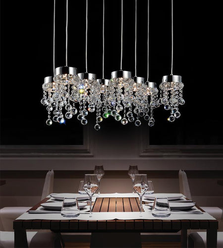 8 Light Multi Light Pendant with Chrome finish